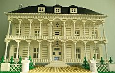 MOC (My Own Creation) - Your House - LEGOs! When you order this: You will receive the completed model of your house in LEGOs designed, thought, and built by my spectacular team. Lego Modular, Lego Moc, Van Lego, Southern Mansions, Lego Sculptures, Lego Boards, Amazing Lego Creations, Lego Architecture, Lego Creator