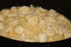 Crock pot chicken dumplings