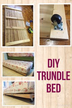 Trundle bed - Figure out even more information on murphy bed plans queen Take a look at our website Murphy Bed Desk, Murphy Bed Plans, Modern Murphy Beds, Decorate Your Room, Diy Bed, Do It Yourself Home, Bunk Beds, Trundle Beds, Girl Room