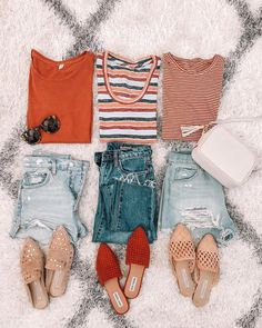 A sure sign fall is right around the corner? I'm buying all things in shades of orange. Three of my current fave t-shirts that will be… Cute Casual Outfits, Short Outfits, Simple Outfits, New Outfits, Pretty Outfits, Chic Outfits, Fall Outfits, Summer Outfits, Fashion Outfits