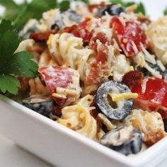 "Bacon Ranch Pasta Salad | ""Great pasta salad! This is perfect for BBQ's!"""