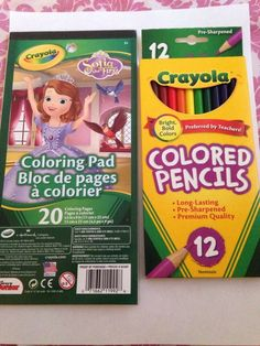 Sofia The First Coloring Pad with Colored Pencils Combo   eBay