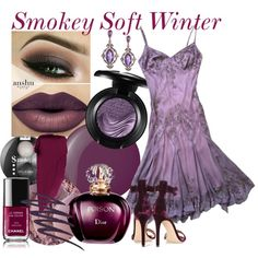 Smokey Soft Winter by prettyyourworld on Polyvore featuring Schönheit, MAC Cosmetics, Bourjois, Urban Decay, Essie, Chanel, Dabakarov, Adrianna Papell, Gianvito Rossi and ColorBreeze