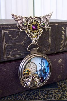 Pocket Watch Brooch Pin512  3D Artwork in by DesignsByFriston
