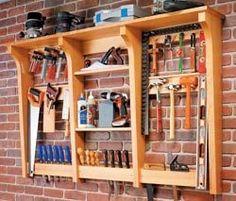 'DIY Tool Storage' - saved from woodworkersworkshop.com ~ Wendy Schultz ~ Storage Ideas.
