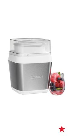 Tasty sorbet coming right up! This frozen dessert maker from Cuisinart comes with two paddles and can whip up creamy concoctions in as little as 15 minutes. Shop now!