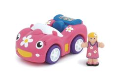 $13.42 WOW Dynamite Daisy - Racing Car (2 Piece Set). Friction-Powered Sports Car Set2 Piece Set Super cool fun for girls on the move! This set includes a stylish girl driver and a pink friction-powered racing car with realistic engine sound. Daisys magnetic hook can be used with other products in the WOW World range.