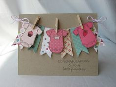 Crafty Girl Designs, baby Card, Stampin' up Kids card Baby Girl Cards, New Baby Cards, Baby Shower Cards, Card Tags, Creative Cards, Kids Cards, Cute Cards, Scrapbook Cards, Homemade Cards