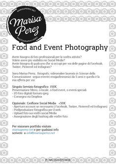Offerta Singolo Servizio Fotografico Ristorazione #Foodeventroma, #eventoenogastronomico Roma #fotografia Roma marisaperez.net