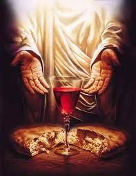 """He broke [the bread] and said, 'Take, eat; this is My body which is broken for you; do this in remembrance of Me.' In the same manner He also took the cup [of wine] after supper, saying, 'This cup is the new covenant in My blood. This do, as often as you drink it, in remembrance of Me'"""""""