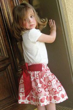 Twirl skirt pattern, PDF sewing pattern ebook, easy, SALE Jezebel, size 12 months - size 8 via Etsy