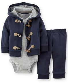 Carter's Baby Boys' 3-Piece Cardigan, Bodysuit & Pants Set - Kids Baby Girl (0-24 months) - Macy's