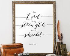 Bible Verse Art Scripture Print Romans 8:31 by TwoBrushesDesigns