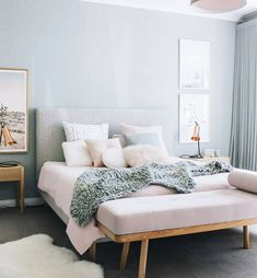 Sit-ka Co. Luxury furniture made in Australia. Gorgeous color palette and use of day bed as at the foot of the bed.