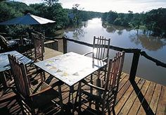 Deck over the river -The Garonga Safari Camp.  Quote and book http://www.south-african-lodges.com  http://www.south-african-lodges.com/garonga-safari-camp/index.php