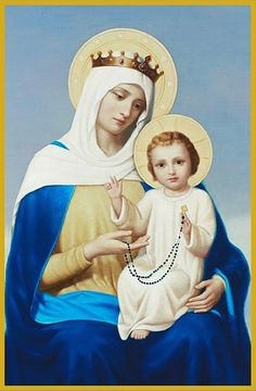 Mary Jesus Mother, Blessed Mother Mary, Mary And Jesus, Blessed Virgin Mary, Praying The Rosary, Holy Rosary, Veil Of Veronica, Madonna, Hail Holy Queen
