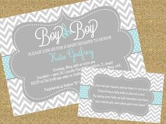 Boy Oh Boy Baby Shower Invitation with Book by SouthernSwish  I love requesting a book instead of a card! What a great way to remember all those who showered your baby with love!