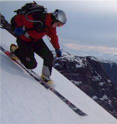 Telemark turn - Telemarker Pia C. Robertsen