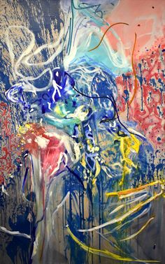 'Fragments of Coleridge...Kubla Kahn!' oil on canvas 184 x 115cm Abstract Expressionism, Abstract Art, Oil On Canvas, Canvas Art, Original Paintings, Original Art, The Other Art Fair, Oil Painters, Buy Art