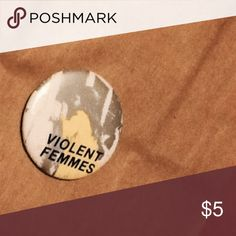 Violent Femmes vintage pin! One of my good friends is the son of the bassist of the Violent Femmes! Vintage Jewelry Brooches