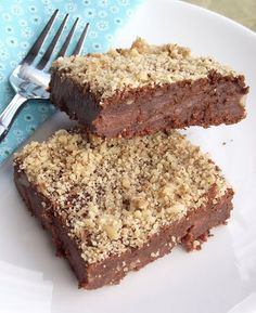 Walnut brownies  (Made with cooked white beans)