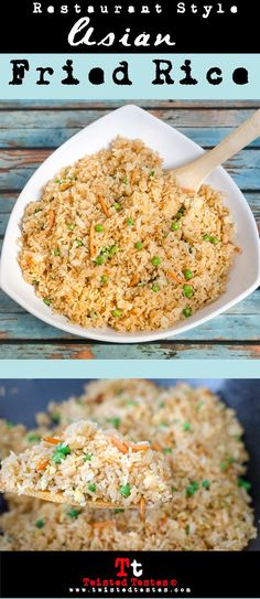 Restaurant Style Asian Fried Rice- Crisp vegetables, layers of sesame oil, ginger and other authentic flavors will make you feel like you are sitting at the hibachi table.