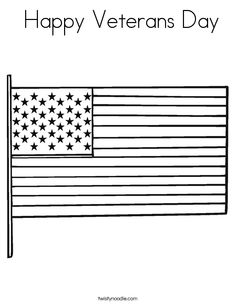 Veterans Day Flag Coloring Pages