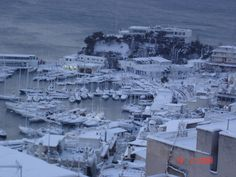 Snowy Mikrolimano Bay Greece, City, Outdoor, Greece Country, Outdoors, Cities, Outdoor Games, The Great Outdoors