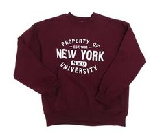 Property of NYU Crew Sweatshirt crew shirt 7fef02154