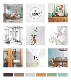 "Moodboard tipo ""grid"" o grilla Marca Personal, Personal Branding, Mood Board Maker, Online Mood Board, Inside Design, Tropical Vibes, Creating A Brand, Ux Design, Mood Boards"
