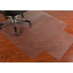 Mammoth Office Products PVC Chair Mat for Hard Floors, 36 x 48, 10 x 20 Lip, Clear