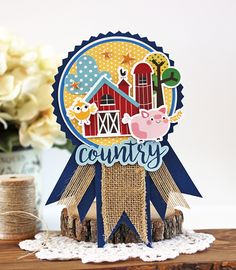 Bella Blvd | Barn Yard Collection | Country Fair Ribbon by Laurie Schmidlin
