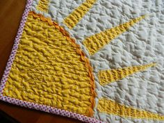 Sun quilt; a little sun under my coffee in the mornings