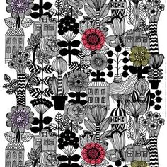 The adorable Lintukoto fabric from Marimekko is designed by Maija Louekari and has a large-scale print with wild plants and buildings. The charming pattern really inspires to creativity, so pick up your sewing machine and create something. Cushion covers, a dress or a tote bag - only your imagination sets the limit!