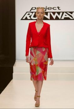 Project Runway Season 12 Jeremy Brandrick's Episode 9 Look before he had the chance to rework the garment