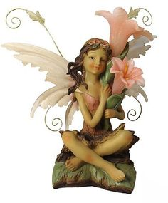 """12"""" LED Lighted Solar Powered Outdoor Fairy with Flowers Garden Figure by CC Outdoor Living, http://www.amazon.com/dp/B0076YMN94/ref=cm_sw_r_pi_dp_czJlsb1S03EVW"""