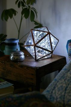 Toss a string of lights (any color) into any glass container for a unique lamp!