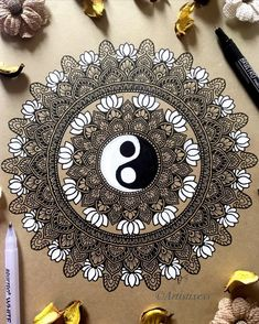 "Richa S on Instagram: ""If we never experience the chill of a dark winter, it is very unlikely that we will ever cherish the warmth of a bright summer's day.…"" Mandala Book, Mandala Artwork, Mandala Art Therapy, Art Sketches, Art Drawings, Dark Winter, Zen Doodle, Mandala Tattoo, Mandala Design"