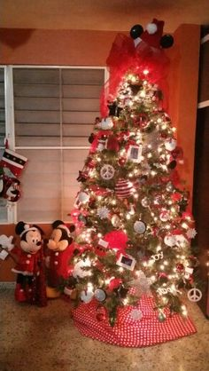 mickey and minnie christmas tree - Mickey And Minnie Christmas Decorations