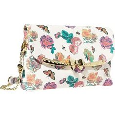 Get dressed up for dinner with this ladylike shoulder bag from Betsey Johnson. Sleekly styled with a removable strap, the gold-tone bow hardware provides instant polish. BETSEY JOHNSON SERENITY SHOULDER BAG IN FLORAL $68.00 at Bag King! Palladio Store | 230 Palladio Parkway #1217 Folsom, CA 95630 Natomas Store | 717 Del Paso Road #100 Sacramento, CA 95834