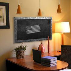 American Made Rayne Safari Silver board/Chalkboard (16 x 100)