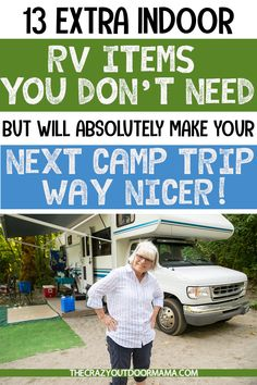 Would you like to go camping? If you would, you may be interested in turning your next camping adventure into a camping vacation. Camping vacations are fun and exciting, whether you choose to go . Rv Camping Tips, Travel Trailer Camping, Camping Supplies, Camping Car, Camping Essentials, Camping Items, Travel Trailers, Camping List, Rv Travel