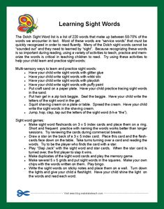 Parent Handouts for Learning Sight Words and Improving Reading Fluency | Make, Take & Teach