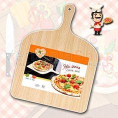 Natural Beechwood Pizza Paddle/Peel IN LEGNO NATURALE DI BETULLA MADE IN ITALY 30x30 + 11 cm DI MANICO PALA PER PIZZA