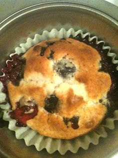 Muffins made with fresh picked blueberries from my daughter-in-law..yum