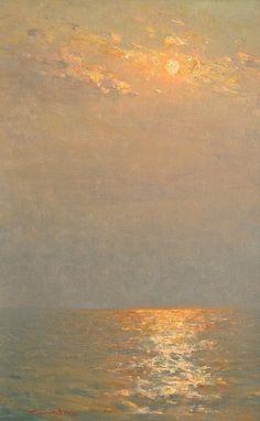 Valentin Korotkov an amazing example or iridescence. Watercolor Landscape, Landscape Art, Landscape Paintings, Sky Painting, Seascape Paintings, Sunrise Painting, Water Art, Art Moderne, Beach Art