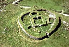 Aerial photo of Leacanabuaile stone fort in Co. It dates from the centuries AD (image by Con Brogan/National Monuments Service) Irish Culture, Famous Places, Ireland Travel, British Isles, Aerial View, Archaeology, Dublin, Places To Visit, Around The Worlds