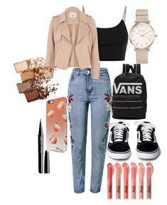 """""""Bez naslova #45"""" by azrailjazovic ❤ liked on Polyvore featuring WithChic, Vans, Alexander Wang, River Island, ROSEFIELD and Maybelline"""