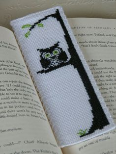 Owl cross stitch bookmark