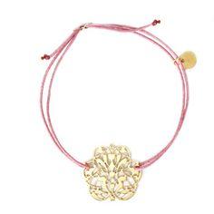 Hornica Bracelet Arabesque en plaqué or sur lien